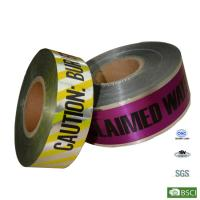 Quality Customized Aluminum foil PE Buried Underground Detectable Warning Tape for sale