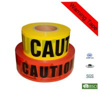 Quality PE Red and Yellow Police Traffic Barrier Safety Custom Caution Tape for sale