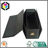 Quality CMYK Full Color Black Folding Paper Wine Packaging Box; Wine Packaging Box for sale
