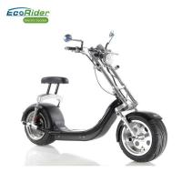 Quality 60V 12AH Lithium Battery Electric Harley scooter with CE , 18*9.5 inch Fat Tire for sale