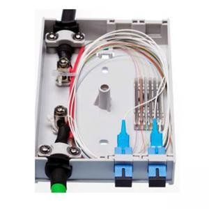 Quality 4 FO Outdoor Fiber Optic Junction Box , SC Simplex LC Duplex Adapters Fiber Access Terminal Box for sale