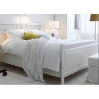 Quality 100% Cotton White Percale Hotel Quality Bed Linen Fitted Sheet , Pillow Cases for sale