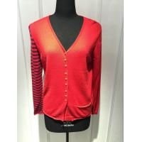 Quality Computer Knitted Womens Red Cardigan Sweater Long Sleeve Anti Shrink for sale