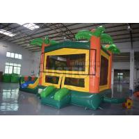 Quality detachable banner tropical bouncer module inflatable jumping castle slide combo for sale