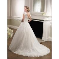Quality NEW!!! Cape sleeves wedding dress Ball gown Lace skirt Bridal gown #67069 for sale