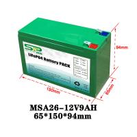 Quality Green 9Ah 12 Volt Lithium Battery Pack NCM/LiFePO4 For Smart Security Monitoring for sale