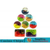 Security Promotional Casino Poker ChipsWith Smooth And Delicate Texture