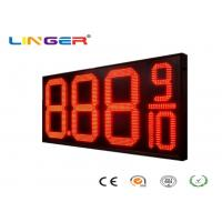 Quality 12 Inch Red Color Four Digits LED Gas Price Display for Petrol Station for sale