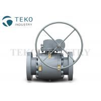 High Pressure Trunnion Mounted Flange End Ball Valve With Gear Operation for sale