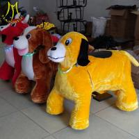 Quality Hansel coin operated plush animal shopping mall kids rides 150KG bearing motorized plush riding animals for sale