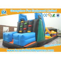 Quality Summer Sports Inflatable Obstacle Course For Rent , Bouncy Obstacle Course Vertical Climb With Slide for sale