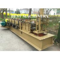 Quality Gavalnized Steel Shutter Door Roll Forming Machine U Channel Guide Frame Making for sale