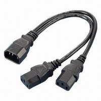 Quality Y-cable Power Cords, IEC C13-C14, Compliant with RoHS Directive for sale