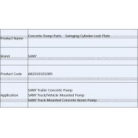 Buy Concrete Pump Parts SANY Swinging Cylinder Lock Plate Swinging Cylinder Limit at wholesale prices