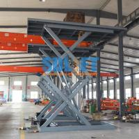 Buy cheap 3T 5M Auto Lift Hydraulic Scissor Car Lift Underground Car parking Lift with CE from wholesalers