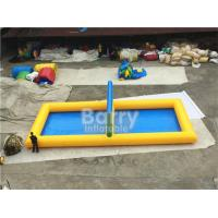 Quality Outdoor Inflatable Sports Games PVC Inflatable Water Volleyball Court for sale