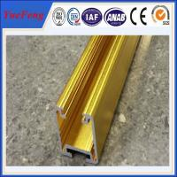 Quality golden color anodized aluminum extrusion track for sliding door for sale