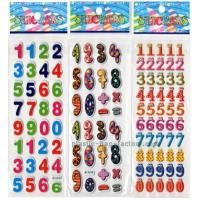 Quality Preschool Education Puffy Letter Stickers , Arabic Numerals DIY Puffy Stickers For Kids for sale