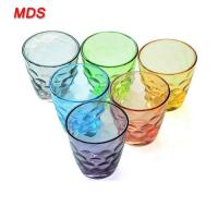 China Factory supply wholesale assorted raindrop drinking glass cup on sale