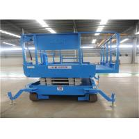 Low Noise Scissor Lift Trailer 10m Long Running Time Front Wheel Drive Adjustable for sale