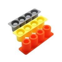 Quality High Quality Ice Cube Cup Shape Ice Glasses Frame Mold Amazon Top Selling FDA Ice friendly Silicone Pop Mold for sale