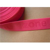 Quality Pink Jjacquard Elastic Band , Clothes Sewing Webbing Straps Colorful for sale