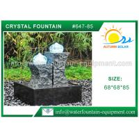 Buy cheap Carved Granite backyard Water Fountains Glass Crystal Balls For Decoration from wholesalers