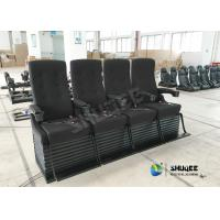 Quality Special Effect Custom 4D Movie Theater Motion 4D Chairs Red / Black For Shopping Mall for sale