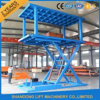 Quality Two Layers Folding Hydraulic Scissor Double Parking Car Lift , Blue for sale