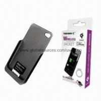 Quality Wireless Charging Jacket for iPhone 4/4S, Qi Compatible for sale