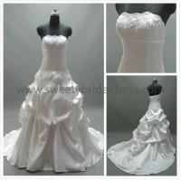 Quality Ball Gown Strapless Beading Lace and Taffeta Wedding Dress AS2011B for sale