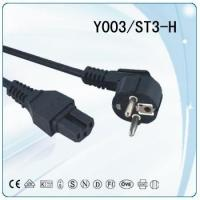 China Europe Schuko CEE power plug Power Cord VDE approval for sale