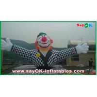 Quality Customized Commericial Vivid Inflatable Clown Mascots With Logo Printing for sale