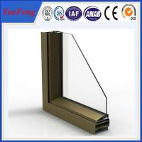 Quality Exterior supermarket/store sliding door aluminium section,aluminium door frame price for sale