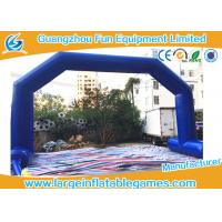Quality Dark Blue Inflatable Advertising Products , Inflatable Archway / Arch Door For Game for sale
