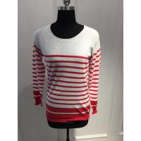 Quality Combed Cotton Stripe Women'S Pullover Sweater Various Color 15JT011 for sale
