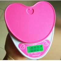 Quality Heart Shape Electronic Food Weighing Scales Portable For Kitchen Use for sale