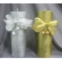 China Gold & Silver Pillar Candle on sale