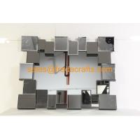 Buy FR-16724 clear mirror color 3D rectangle shape venetian wall mirror at wholesale prices