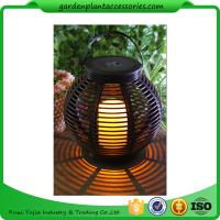 Quality Medium Round Outdoor Rattan Solar Lantern With 2V / 80MA Solar Panel for sale