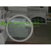 Quality White Color Aluminum Round Fixed Windows For ResidentialHome,10.38mm laminated glass for sale