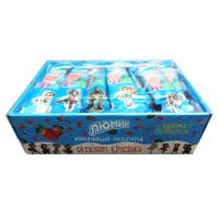 Quality Cow shape stawberry and milk flavor lollipop with Fluorescent sticks for sale