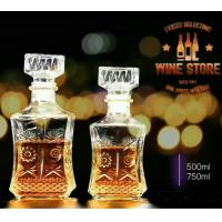 Quality Stock Glass Decanters Whiskey Glass Bottle Sets 500ml For Drinking Bar Shop for sale