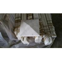 Marble Column Cap Wall Copin Guangxi White Marble Pillar Cap China Carrara Marble Pier Cap for sale