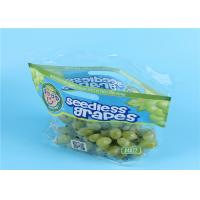 China Clear Fruit Saver Bags , Customized Food Packaging Bags For Strawberry / Grape on sale