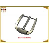 Quality Custom Silver Plated Zinc Alloy Belt Buckle Environmentally Friendly for sale