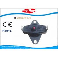 Quality KSD302 series manual reset Snap Disc Thermostat / bi metal thermostat for heat protection for sale