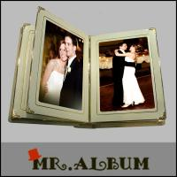Quality Handmade leather slip in wedding photo album for sale