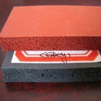 Quality Dark Red Rubber Sheet with Close Cell and Double Impression Fabric or Smooth Surface for sale