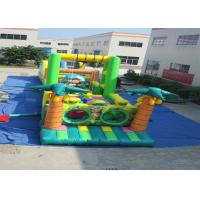 Quality Big Party Games Kids Inflatable Obstacle Courses Double Stitching 25.9 X 3.66 X 4.9m for sale